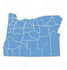 oregon state map by counties royalty free cliparts vectors and