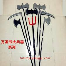 supply halloween weapons carnival weapon props trident sickle axe