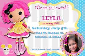 lalaloopsy birthday invitations