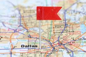 Dallas Map by Dallas Texas Red Flag Pin On An Old Map Showing Travel