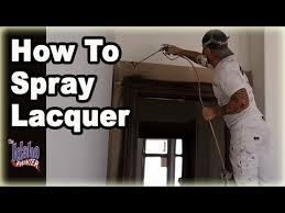 How To Spray Paint Doors - spraying lacquer how to spray lacquer w airless sprayer youtube