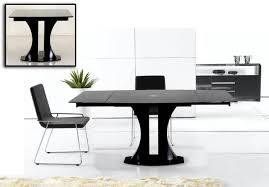 new modrest split modern black extendable dining table table