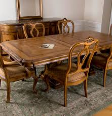 thomasville bibbiano trestle dining table and six chairs ebth