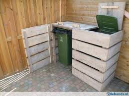 Backyard Garbage Cans by Pallet Garbage Can Shed Google Search Mezcaleria Trash Can