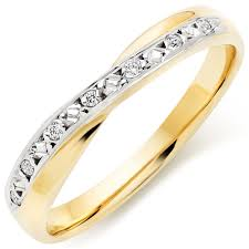 gold diamond wedding band 9ct gold and white gold diamond wedding ring 0102641
