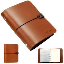 photo album leather whole leather notebook travel diary journal album brown zeffiro