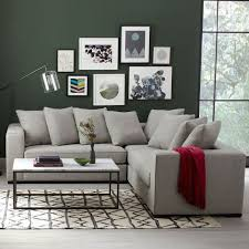 Gray Fabric Sectional Sofa Walton 3 L Shaped Sectional West Elm