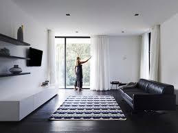 black and white home interior modern home designs bright white space completed with black sofa