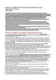 dispense diritto penale riassunto politica criminale e sistema diritto penale claus