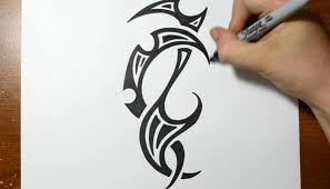 drawing a cool tribal tattoo design sketch 4 youtube