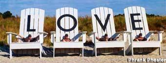 Love Chairs Cape Charles Va Giant Beach Love Chairs Gone