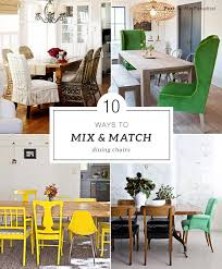 Dining Room Armchairs How To Mix And Match Dining Chairs My Paradissi