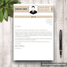 cover letter for resume download resume template cover letter donovan flowers resume template mockup 2