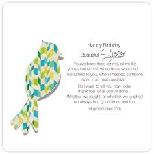 happy birthday beautiful sister share birthday cards for sister