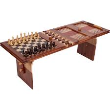 wood game and coffee table ode to chess se thippo