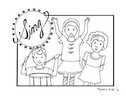 singing praises to god coloring page