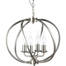 Chandelier Stunning Satin Nickel Chandelier Breathtaking Satin