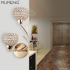 Crystal Wall Sconces by Popular Golden Wall Sconce Buy Cheap Golden Wall Sconce Lots From