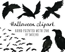 halloween clipart watercolor halloween clipart digital watercolour birds