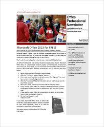 sample office newsletter 7 documents in pdf