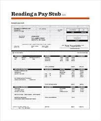 pay stub template word document download a free pay stub template