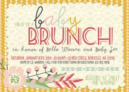 brunch invitation ideas top 13 baby shower brunch invitation wording which viral in 2017