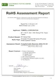 Testing Report Sle by Rohs Report