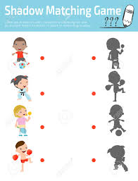 shadow matching game for kids visual game for kid connect the