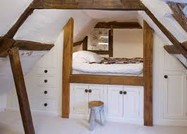 attic area loft style bedroom design at the attic small design ideas