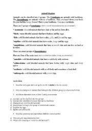 free printable worksheets vertebrates invertebrates vertebrates and invertebrates worksheets worksheets rejuvenems