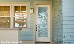 Etched Glass Exterior Doors Leaping 2d Etched Glass Doors Decor