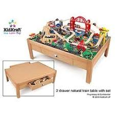 Kidkraft Train Table Natural 17851 Kidkraft White Train Table With Trundle Drawers Activity Tables