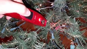 pre lit christmas tree repair hack youtube