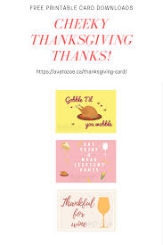 free cheeky thanksgiving card printable downloads