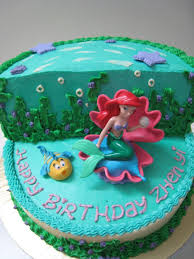 birthday cake ideas adorable little mermaid birthday cake walmart