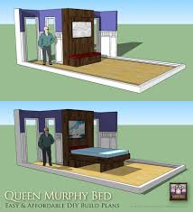 affordable cabin plans diy murphy bed in up down positions timber trails turnkey tiny
