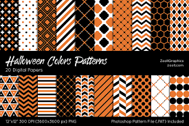 halloween colors digital papers patterns creative market