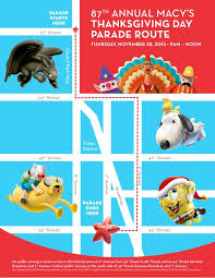 macy s thanksgiving day parade 2013 map huffpost