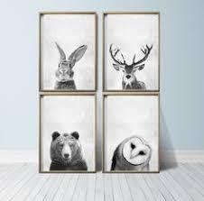 Woodland Animals Nursery Decor Woodland Animal Nursery Prints Animal Nursery Grey Nursery