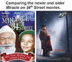comparing two versions of miracle on 34th street christy u0027s