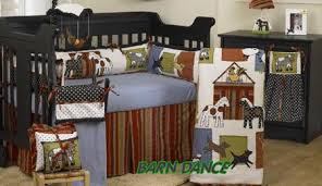 Puppy Crib Bedding Sets Western Baby Cowboy Nursery Bedding With Patterned Ponies And