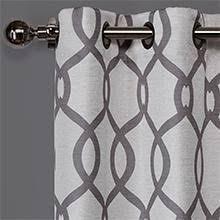 Sheer Curtains Grommet Top Amazon Com Exclusive Home Curtains Navarro Burnout Sheer Grommet