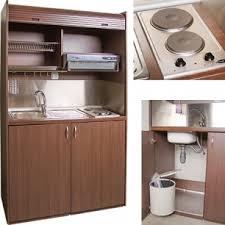 cuisine tout en un mini cuisine équipée tout en un avec volet roulant l125 cm direct