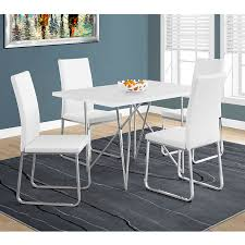 harlow modern white chrome dining chair eurway