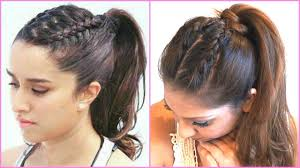 ponytail hair braided ponytail hair tutorial inspired by shraddha kapoor in half
