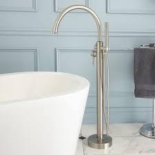 home design glynne gooseneck freestanding tub faucet bathroom