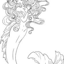 mermaid coloring pages adults archives mente beta