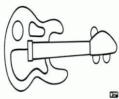 electric guitar coloring printable game