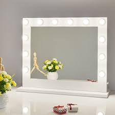 mirror with light bulbs chende vanity mirror with light hollywood makeup mirror wall mounted