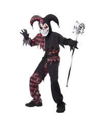 Joker Halloween Costume Kids Jester Costumes Evil Twisted Joker Jester Halloween Costume